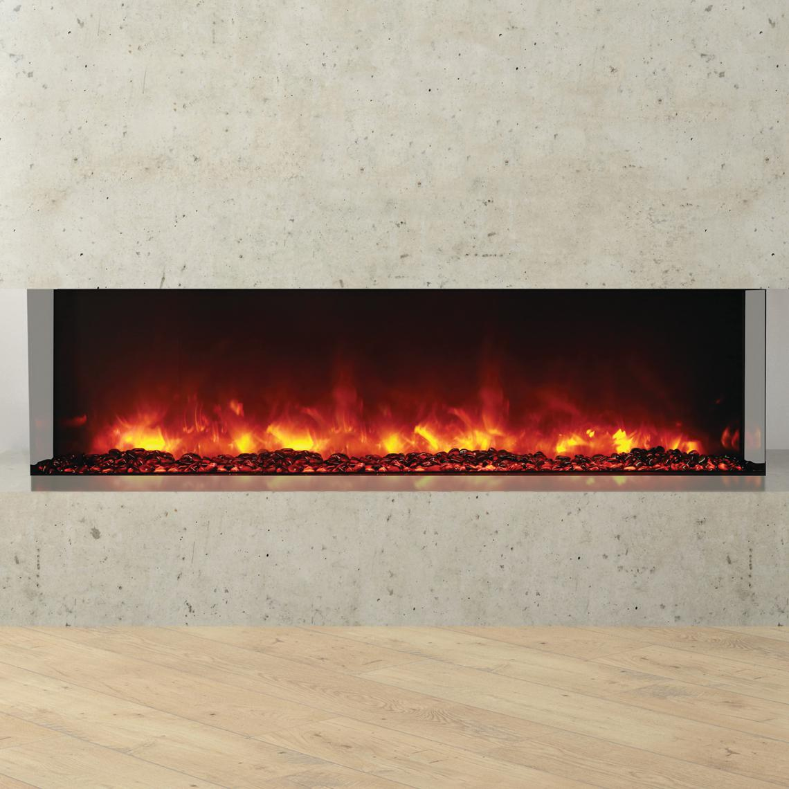 """Amantii Tru View 60"""" Built-in Three Sided Electric Fireplace - Indoor/outdoor - 60-tru-view-xl"""