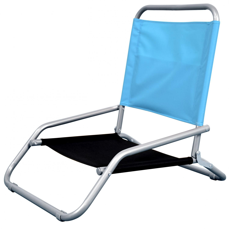 Astella Classic Folding Steel Beach Chair - Sky Blue & Black - Bc11-p26/p34