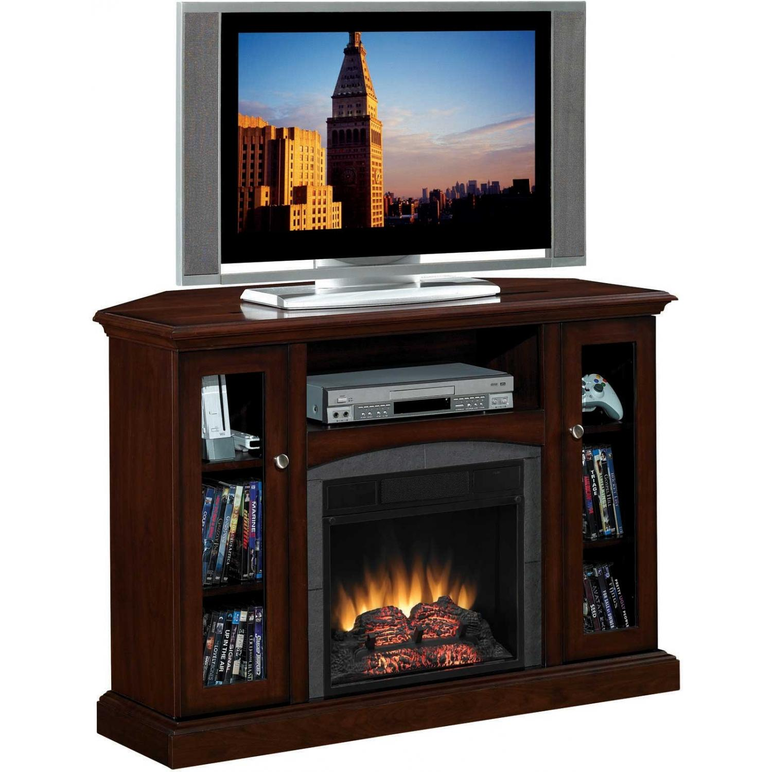 ClassicFlame 18DE9033-PC81 Advantage Bancroft Dual Use Electric Fireplace With Media Console - Engineered Antique Cherry