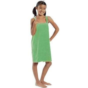 Terry Town Girls Terry Velour Body Wrap Towel Medium - Lime