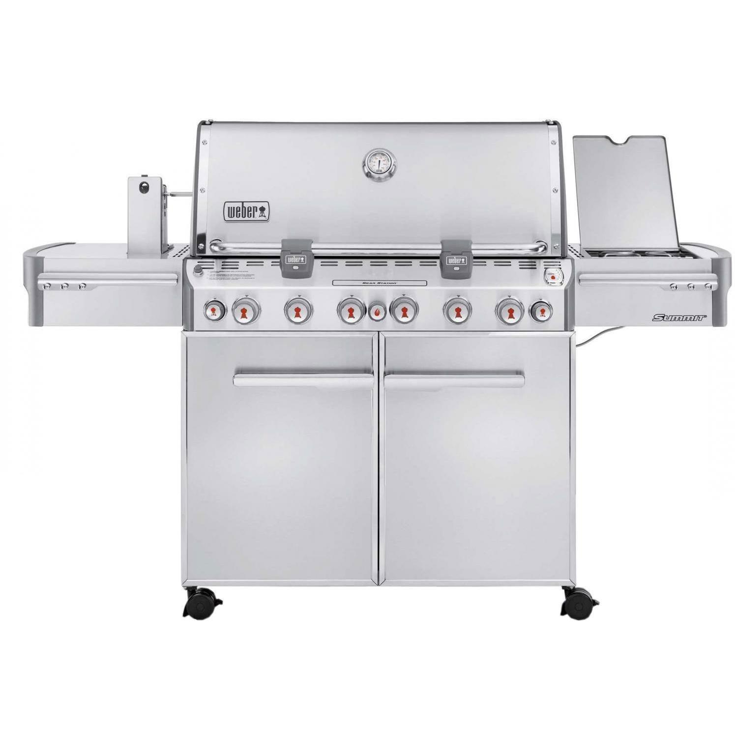 Weber Summit S-670 Natural Gas Grill On Cart With Rotisserie, Sear Burner & Side Burner 2684834