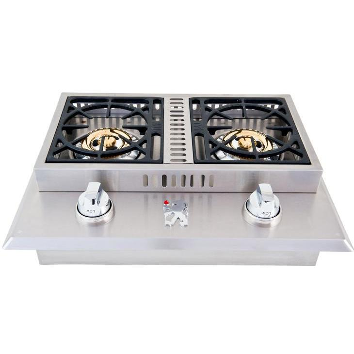 Lion Stainless Steel Drop In Propane Gas Double Side Burner