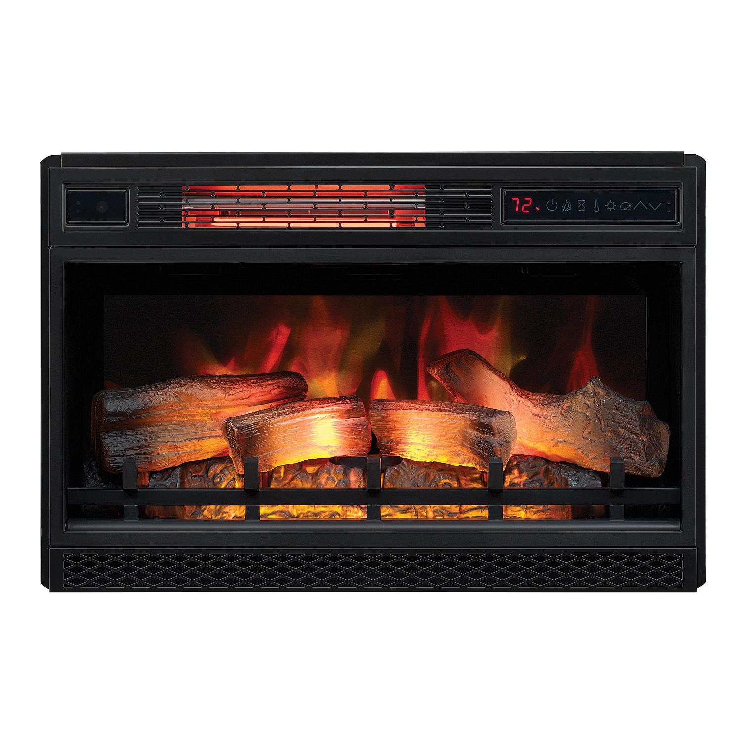 "Classicflame Spectrafire 26"" 3d Infrared Quartz Electric Fireplace Insert With Safer Plug And Safer Sensor - 26ii042fgl"