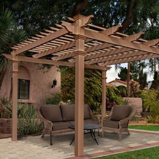 New England Arbors Arcadia 10 X 10 Ft Composite Pergola