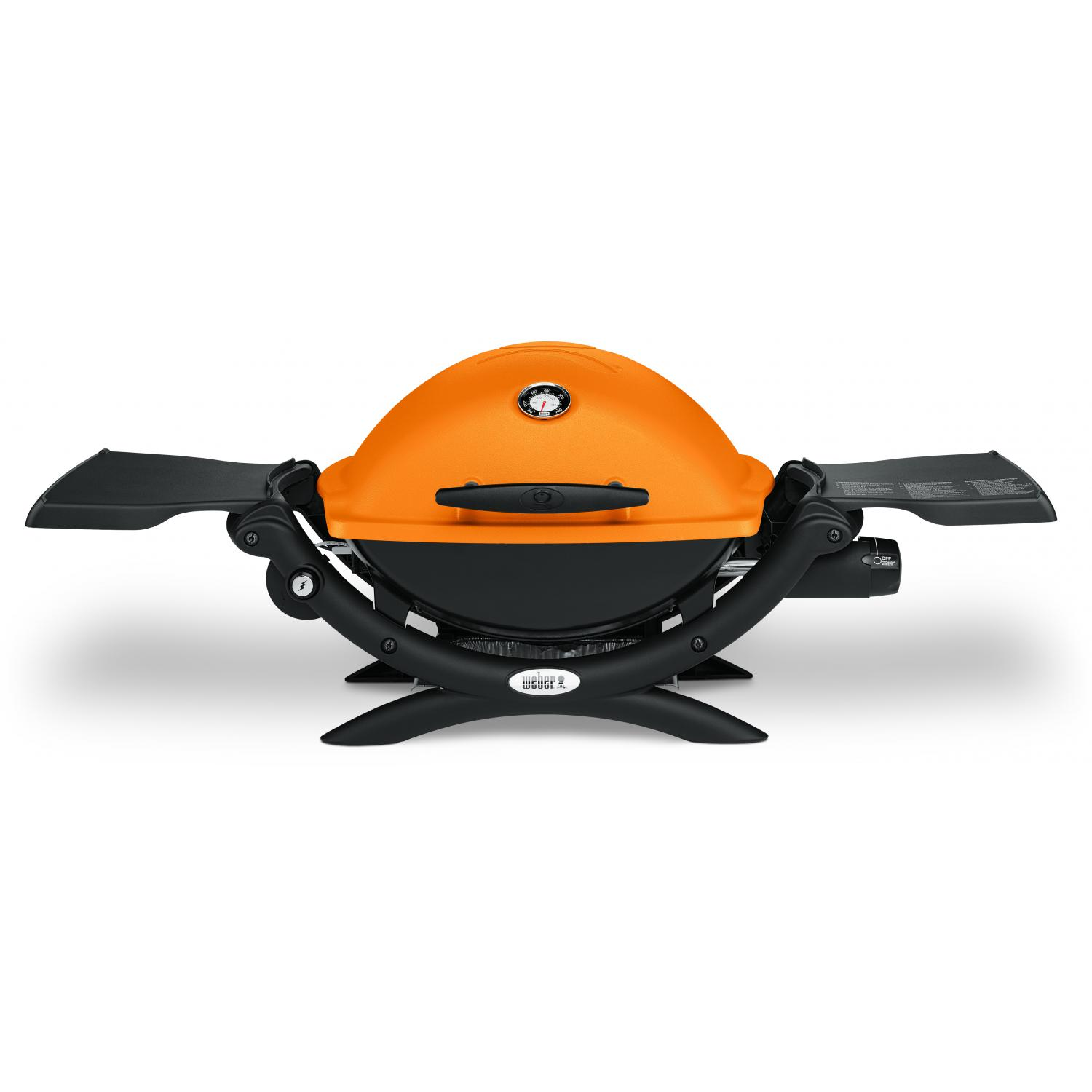 weber q 1200 portable propane gas grill orange ebay. Black Bedroom Furniture Sets. Home Design Ideas