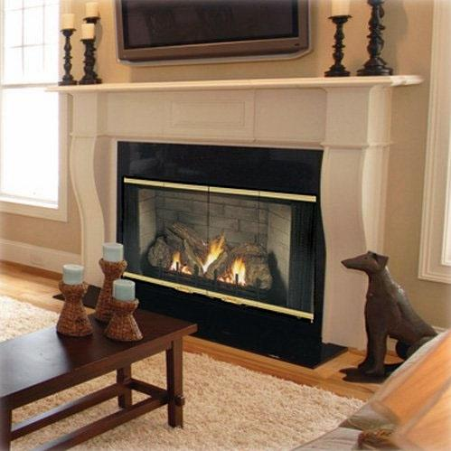 Monessen 400SBVNSC Designer Series 36-Inch Refractory Lined Natural Gas B-Vent Fireplace System With Standing Pilot