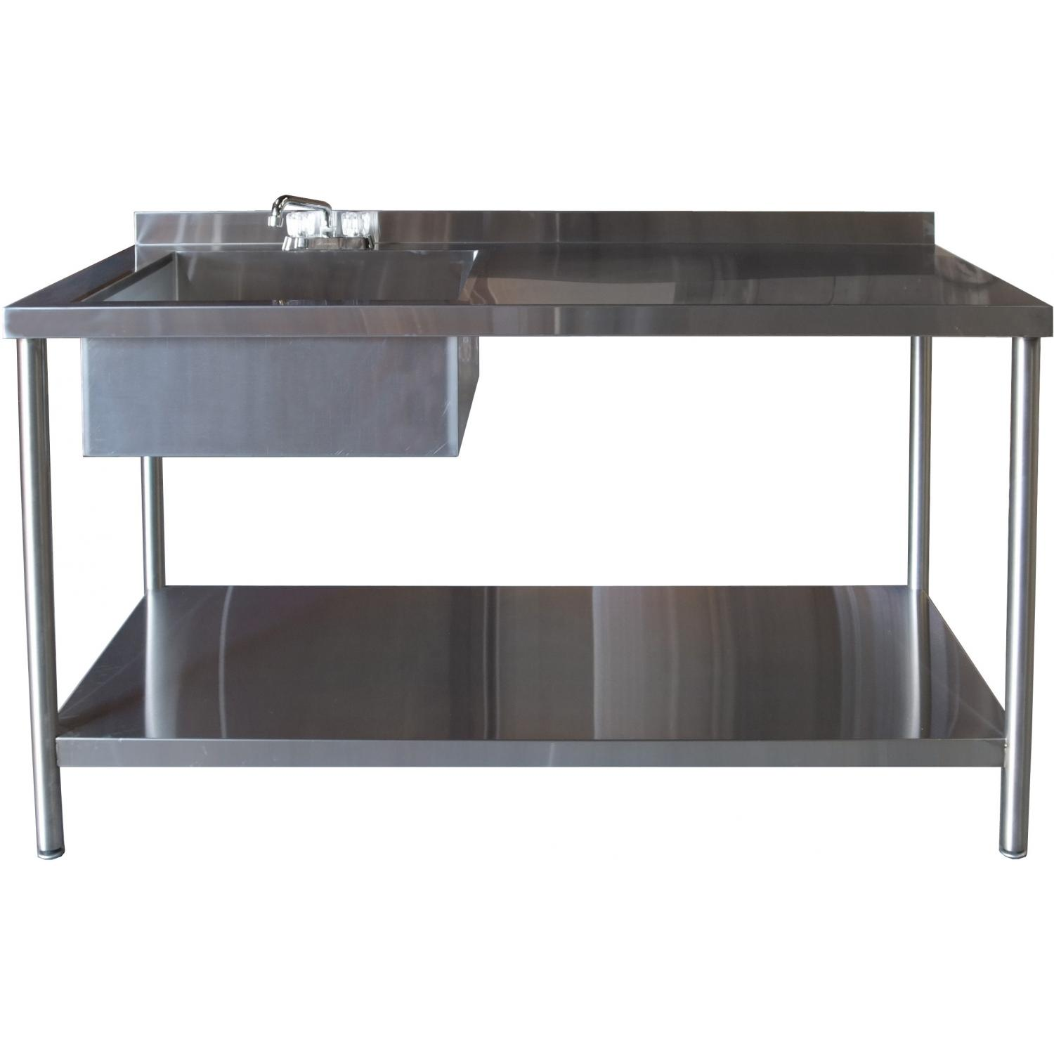 BBQ Guys 30x60 Stainless Steel Table With Sink And Faucet