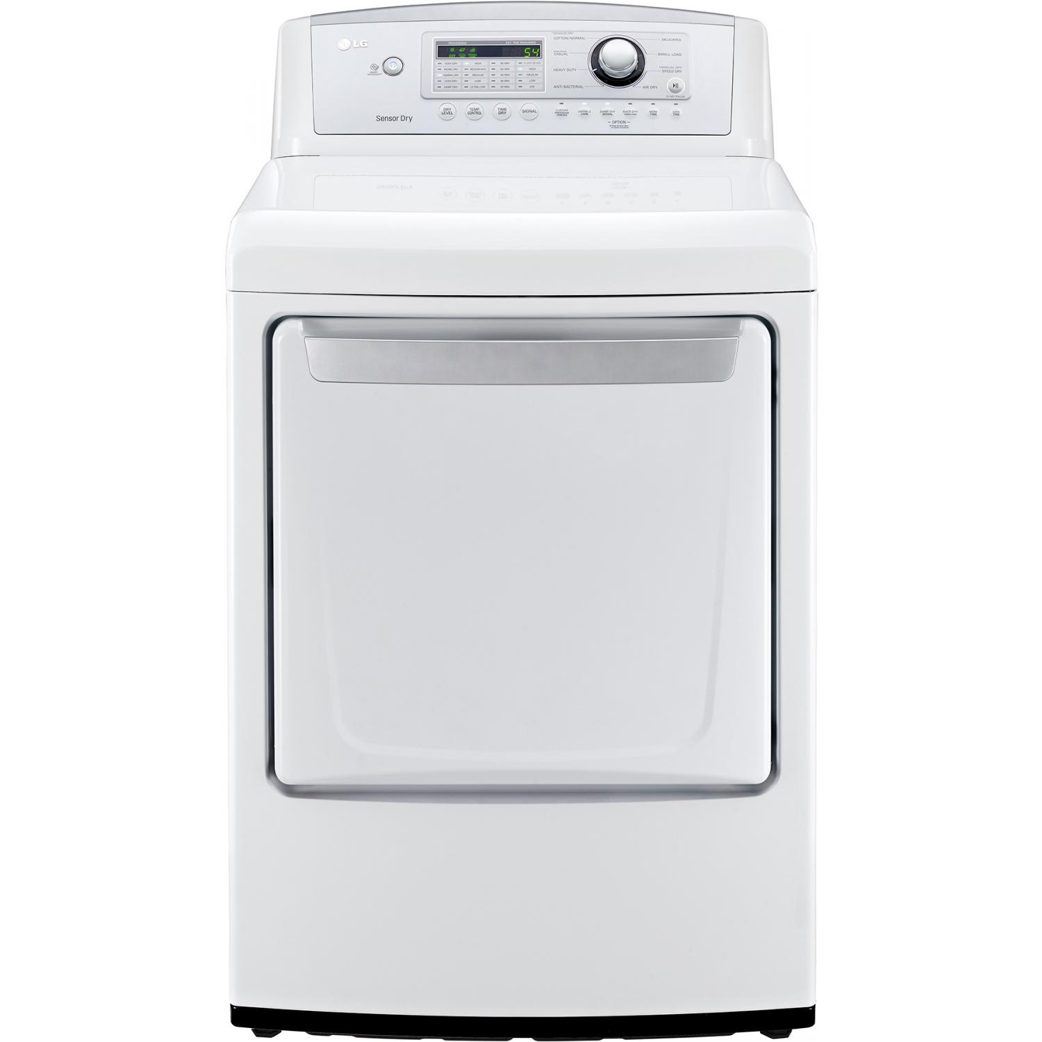 LG DLG4971W 7.3 Cu. Ft. High Efficiency Front Load Gas Dryer - White 2890280