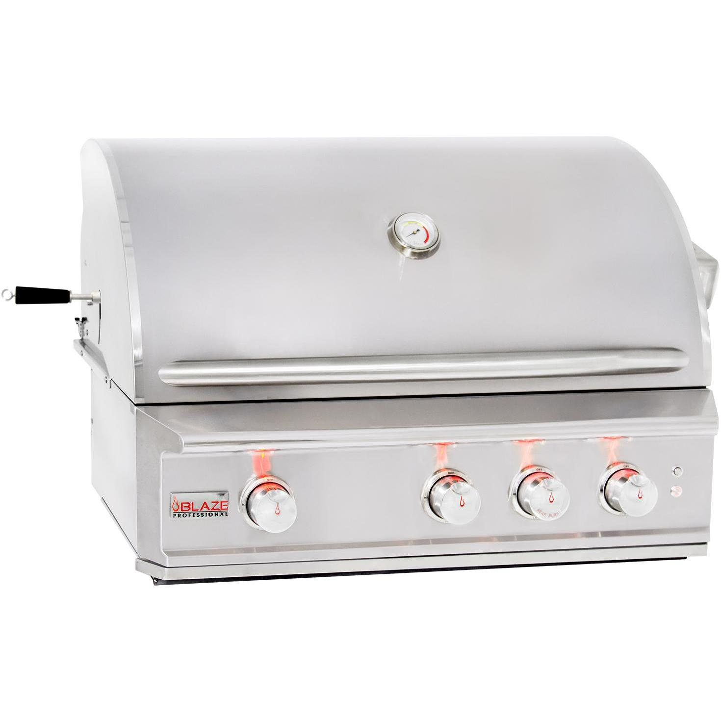 Blaze Professional 34-Inch Built-In Natural Gas Grill With Rear Infrared Burner 2881134