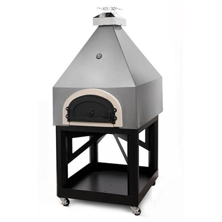 Chicago Brick Oven Cbo-750 Pyramid Outdoor Wood Fired Pizza Oven On Cart - Silver