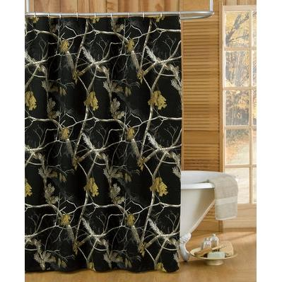 Realtree AP Black Shower Curtain