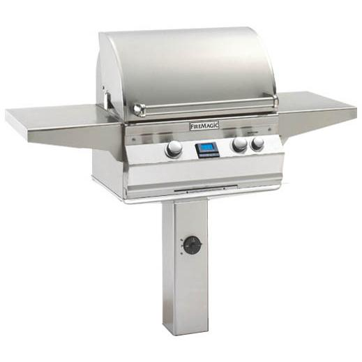 Fire Magic Aurora A430s Natural Gas Grill With Rotisserie On In-Ground Post - A430s-6E1N-G6 2893884