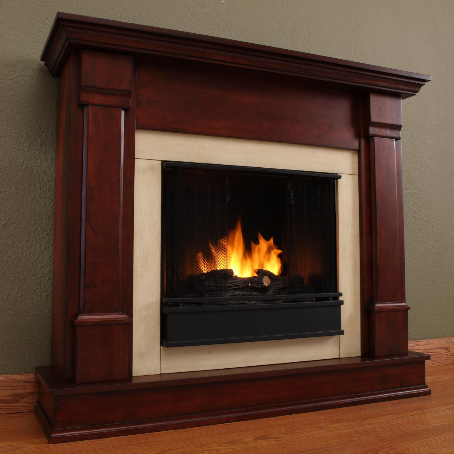 Real Flame Silverton 48-Inch Gel Fireplace - Dark Mahogany