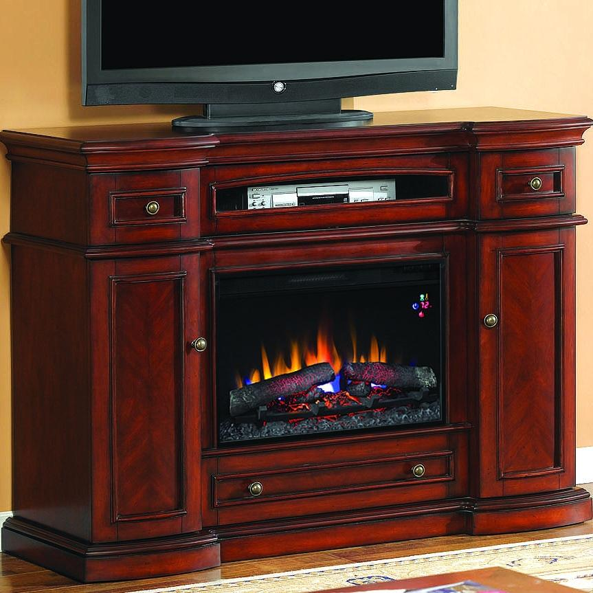 Montgomery 58-inch Electric Fireplace Media Console - Vintage Cherry - 26mm2490