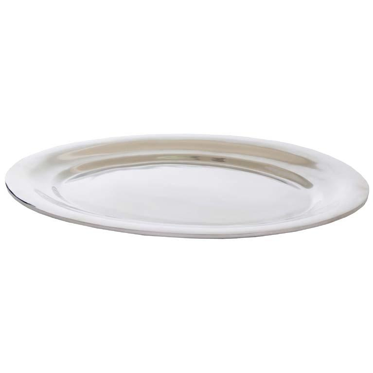 Old Dutch Cast Aluminum Oval Serving Tray- 18 X 14