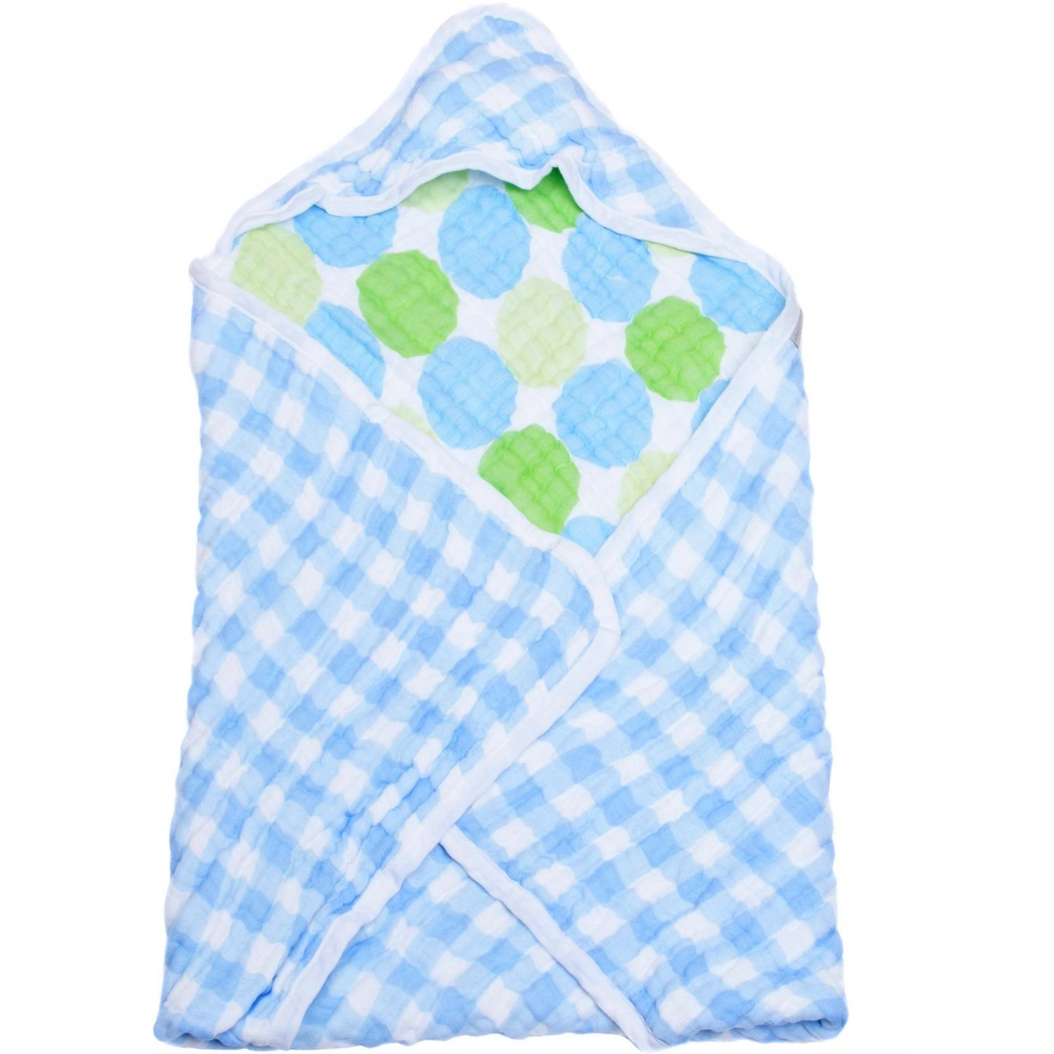 Elegant Baby Swaddle Collection Hooded Towel - Blue