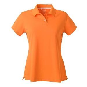 Adidas Golf Ladies ClimaLite Tour Pique Short Sleeve Polo Shirt Small - Tigerlily/White