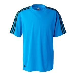 Adidas Golf Mens ClimaLite 3-Stripes Golf Tee 3XL - Argentina Blue/Black
