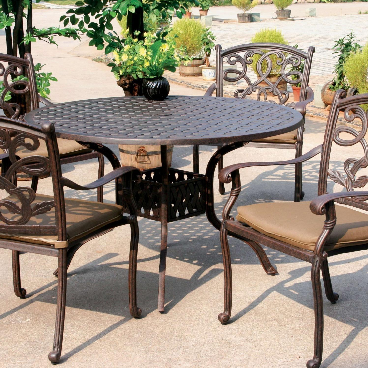 Aluminum patio dining furniture cast aluminum patio for Aluminum patio furniture