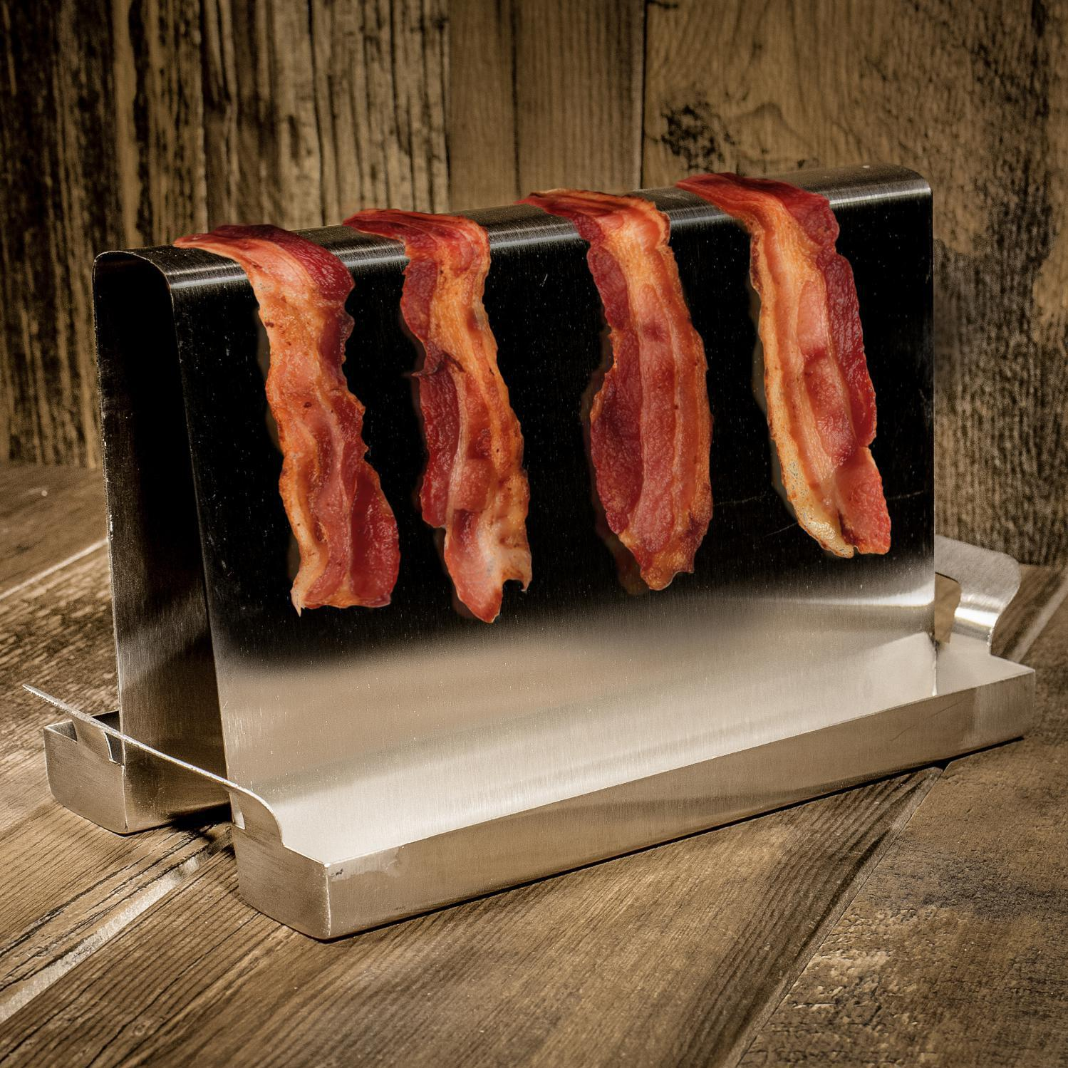 """Charcoal Companion 10 X 4"""" Stainless Steel Bacon Grilling Rack - Cc3123"""