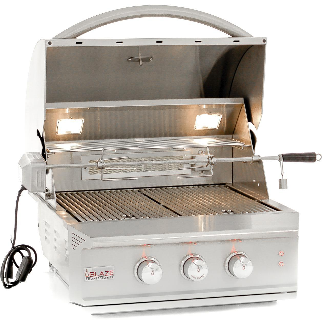 """Blaze Outdoor Products Professional 27"""" 2-burner Built-in Natural Gas Grill With Rear Infrared Burner - Blz-2pro-ng"""