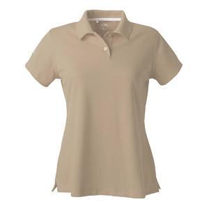 Adidas Golf Ladies ClimaLite Tour Pique Short Sleeve Polo Shirt XL - Ecru/White