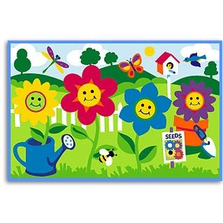 Olive Kids Laminate Placemat - Happy Flowers