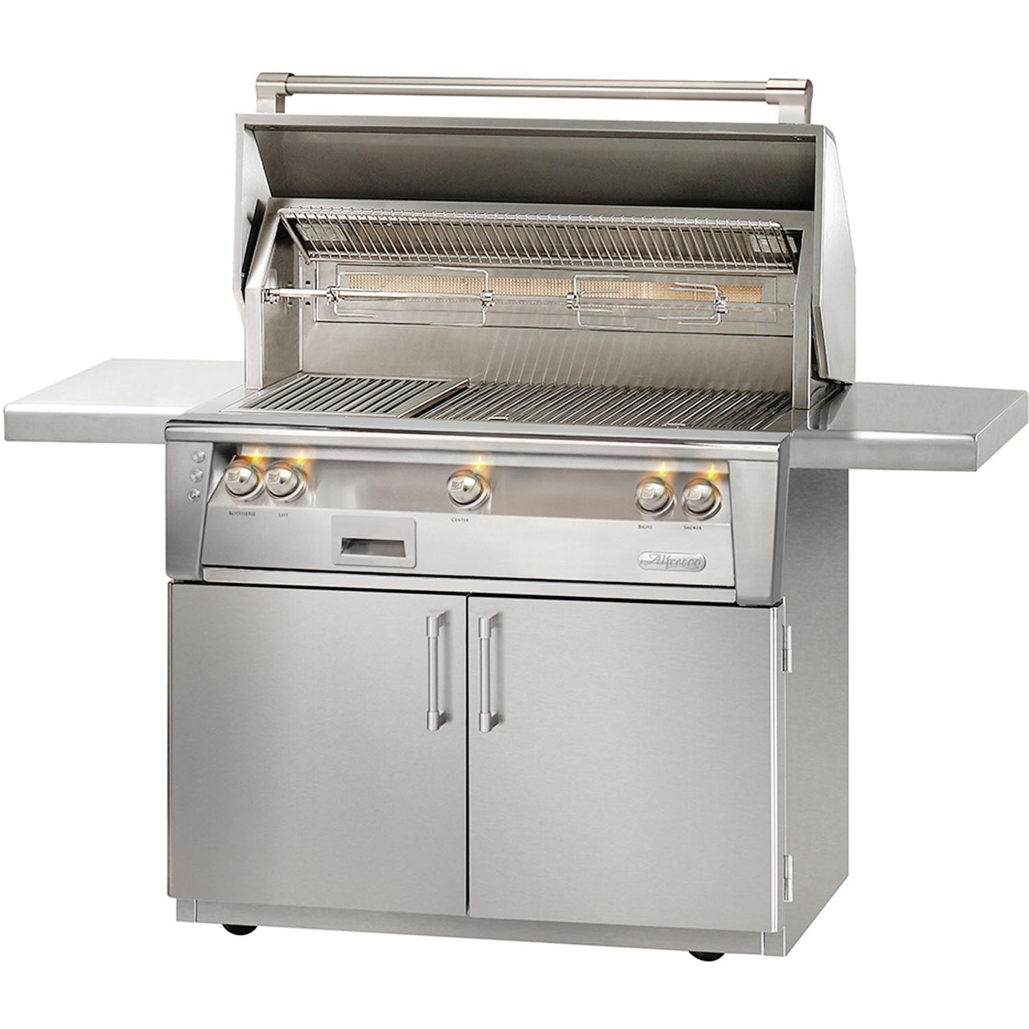 Alfresco LXE 42-Inch Propane Gas Grill On Cart With Sear Zone And Rotisserie - ALXE-42SZC-LP 2911902