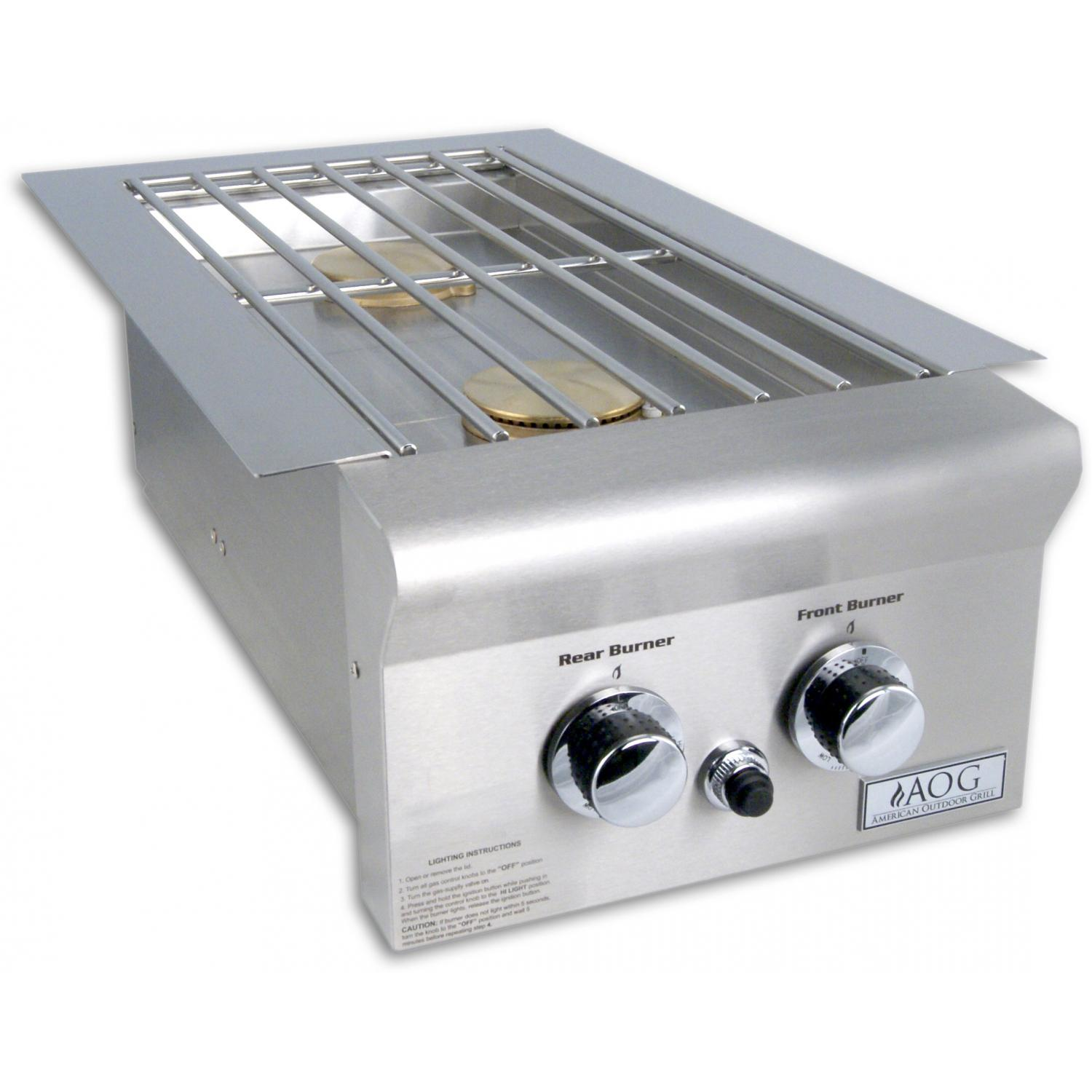 American Outdoor Grill Drop-In Natural Gas Double Side Burner
