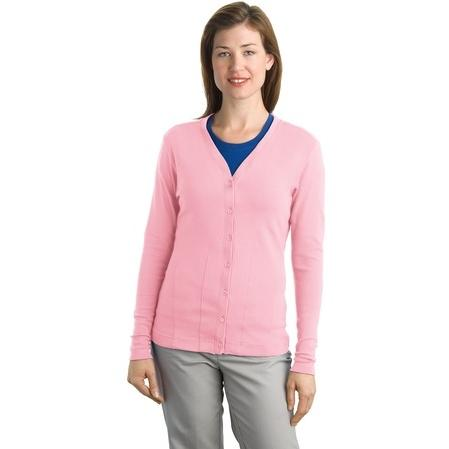 Port Authority Ladies Modern Stretch Cotton Cardigan 3XL - Petal Pink