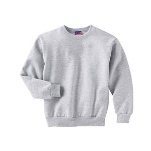 Champion Youth 50/50 Crewneck Sweatshirt Large - Light Steel