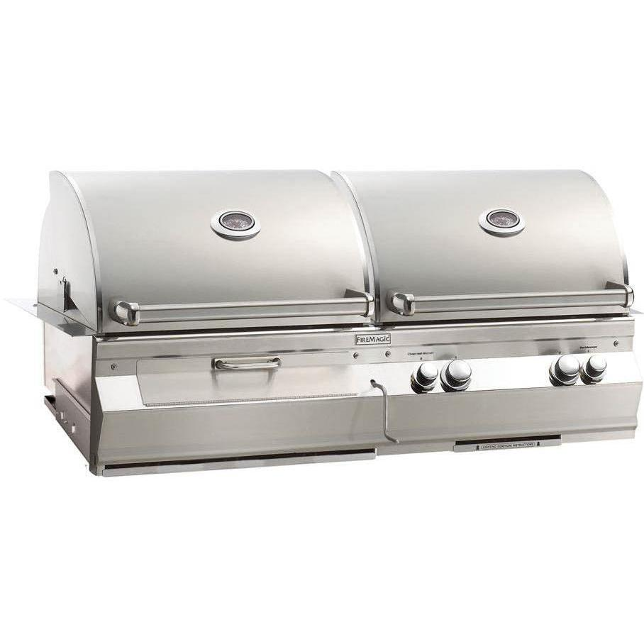 Fire Magic Aurora A830i Built-In Natural Gas And Charcoal Combo Grill With Rotisserie 2894122