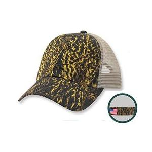 Cobra Caps FeatherFlage Mesh Back Camo Cap - DC/Khaki