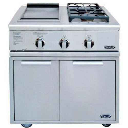 DCS BFG30BGDL Liberty Propane Gas Side Burner And Griddle On