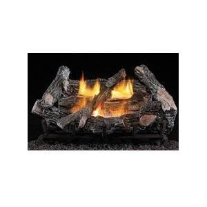Firegear 24-Inch Firefrost Vent Free Natural Gas Log Set With ANSI Certified Mystique Burner - Manual Safety Pilot
