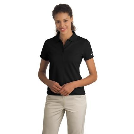Nike Golf Ladies Dri-FIT Pique II Polo Shirt Small - Black 2534176