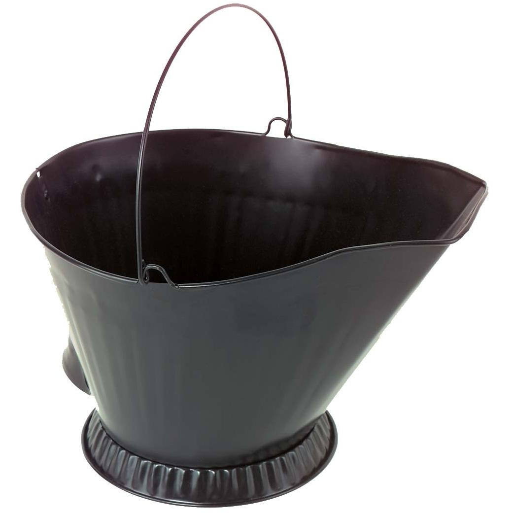 Alpine Flame Black Steel Coal Hod With Handle