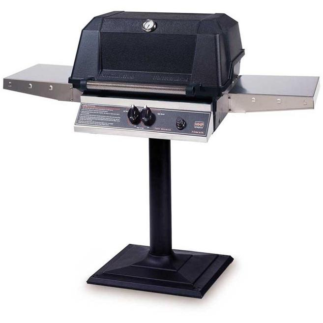 MHP Gas Grills WNK4DD Propane Gas Grill W/ SearMagic Grids On Bolt Down Post