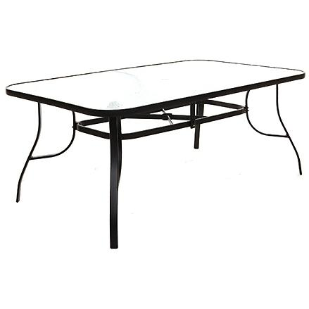 Lakeview Outdoor Designs 72x42 Inch Rectangular Patio Dining Table With Glass Top at Sears.com