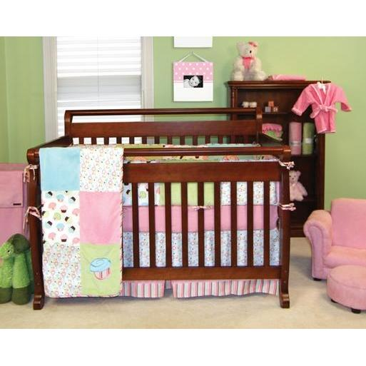 Trend Lab 4-Piece Crib Bedding Set - Cupcake