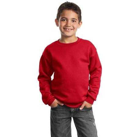Port & Company Youth Crewneck Sweatshirt Large - Red