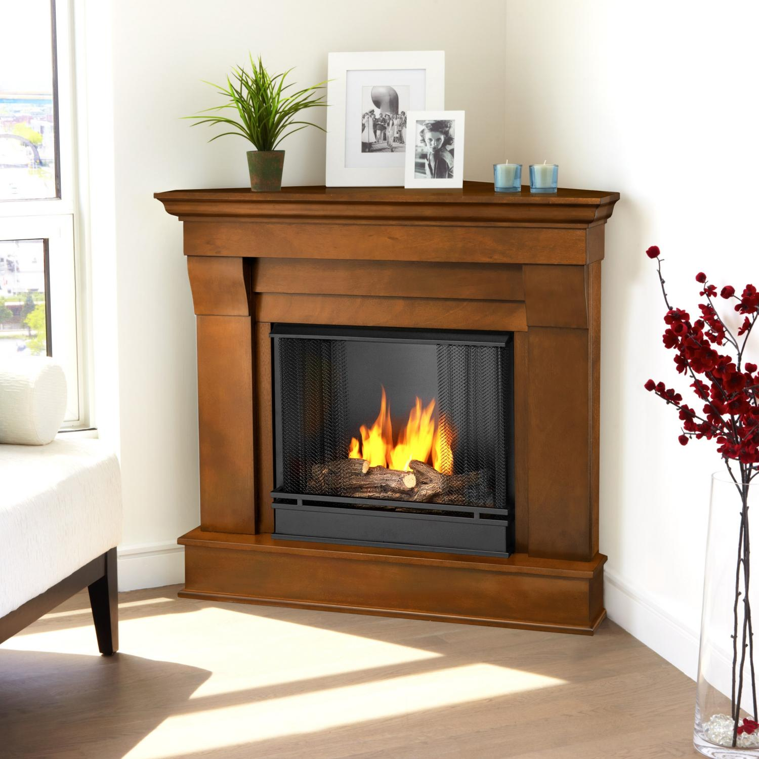 Real Flame Chateau 40-Inch Corner Gel Fireplace - Espresso