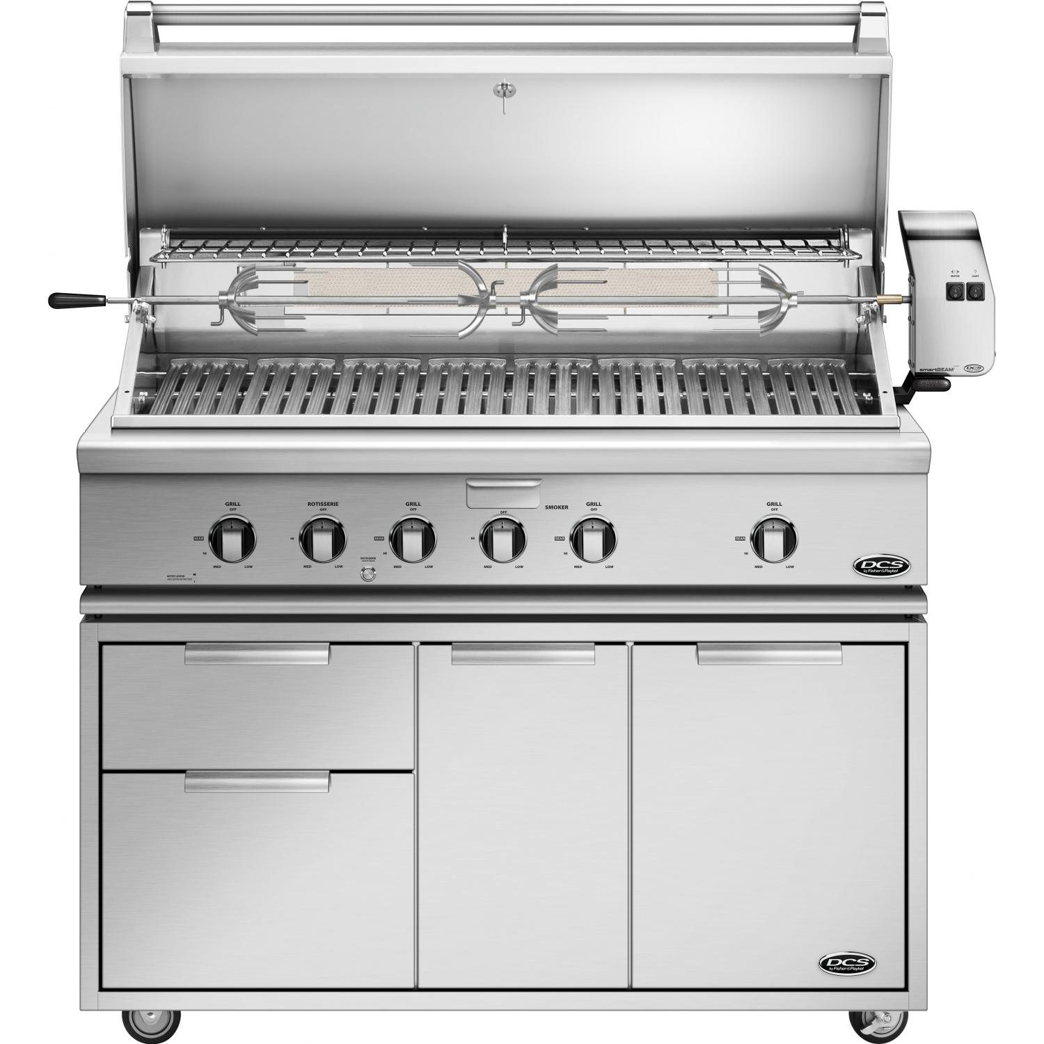 Gas Grill Rotisserie ~ Dcs quot gas grill with rotisserie on cart bh r cad