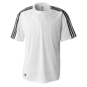 Adidas Golf Mens ClimaLite 3-Stripes Golf Tee 3XL - White/Black