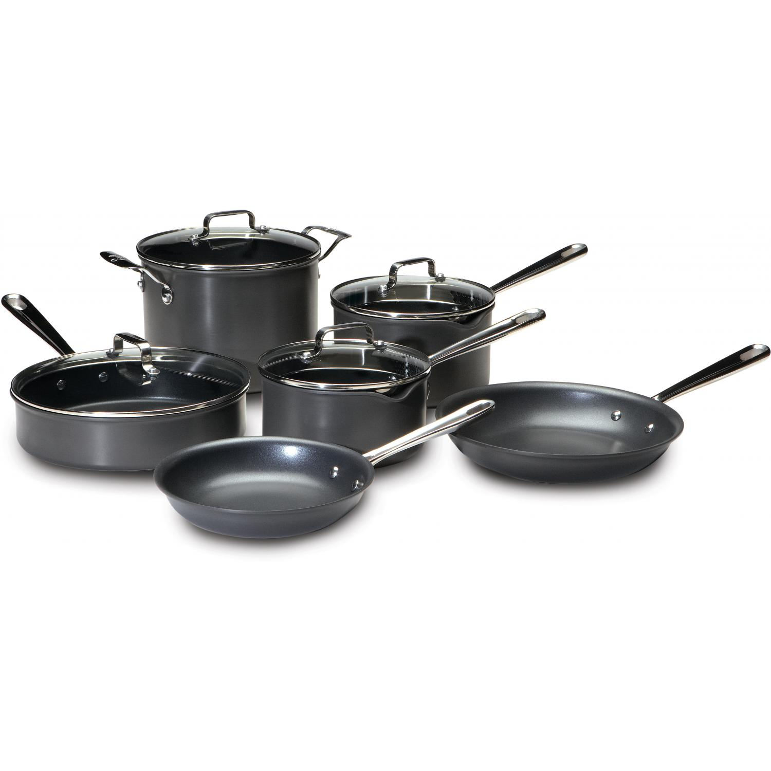 Emerilware By All-Clad 10-Piece Hard Anodized Nonstick Cookware Set - E920SA64