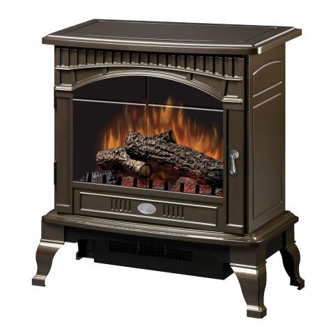 Dimplex 25-Inch Electric Stove - Standard Logs - Gloss Br...