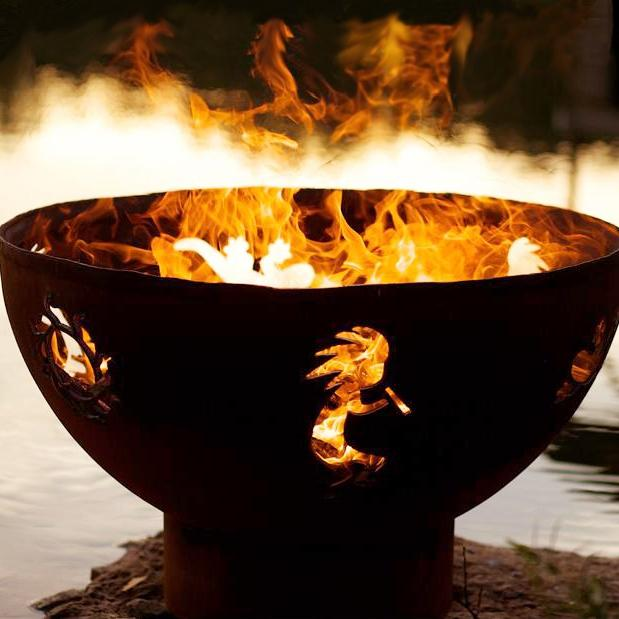Fire Pit Art Kokopelli 36-inch Wood Burning Fire Pit at Sears.com