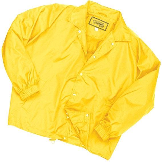 Cobra Caps Nylon Coach Windbreaker Jacket Large - Yellow