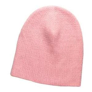 Otto Cap 8 Inch Superior Cotton Knit Beanie - Soft Pink