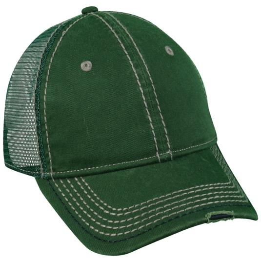 Outdoor Cap Heavy Construction Stitch Cap Dark Green